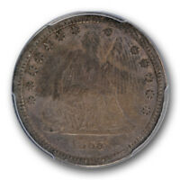 1865 S 25C LIBERTY SEATED QUARTER PCGS VF 20 FINE