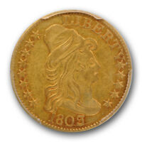 1803/2 $5 DRAPED BUST HALF EAGLE PCGS XF 40 EXTRA FINE EARLY GOLD