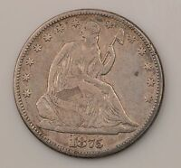 1875 P SEATED LIBERTY SILVER HALF DOLLAR G32