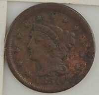 1851 BRAIDED HAIR LARGE CENT Z06
