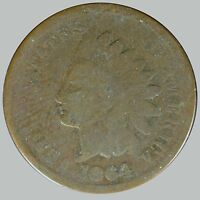 1864 1C BRONZE INDIAN CENT   BLATANT RPD NO CLUE WHICH SNOW IT IS