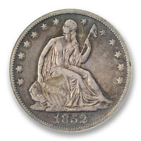 1852 O  HALF DOLLAR ANACS VF 30 50C LIBERTY SEATED KEY DATE FINE