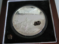 LIBERIA 2004 NWA 267 METEORITE SILVER COIN  ONLY 999 MADE  2OZ $10
