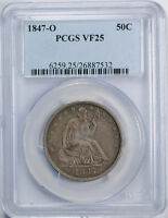 1847 O 50C LIBERTY SEATED HALF DOLLAR PCGS VF 25 FINE