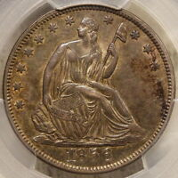 1856 SEATED LIBERTY HALF DOLLAR ORIGINAL CERTIFIED PCGS AU 53 SLEEPER??