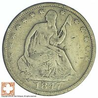 1847 O SEATED LIBERTY SILVER HALF DOLLAR XB50