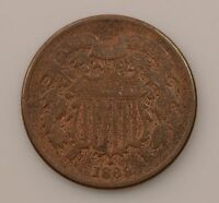 1869 TWO-CENT PIECE Q50