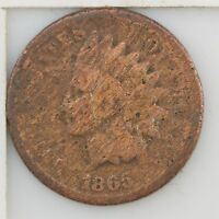 1865 INDIAN HEAD ONE CENT Z50