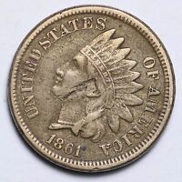 1861 INDIAN HEAD CENT PENNY CHOICE VF  E117 EM