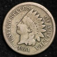 1861 INDIAN HEAD CENT PENNY CHOICE VG  E115 NC