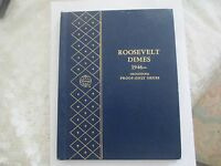 57 ROOSEVELT DIME COLLECTION  1946 1970  WHITMAN FOLD ALBUM ONLY 3 MISSING
