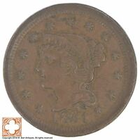 1851 BRAIDED HAIR LARGE CENT XB31