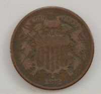 1872 TWO CENT PIECE G10