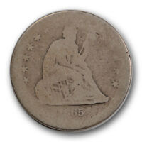 1865 S 25C LIBERTY SEATED QUARTER ABOUT GOOD AG TOUGH DATE R1330