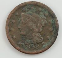 1848 BRAIDED HAIR LARGE CENT G03