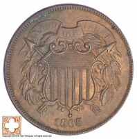 1865 TWO CENT PIECE YB66