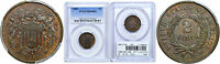 1865 TWO CENT PIECE PCGS MINT STATE 64 BN