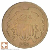 1870 TWO CENT PIECE XB95
