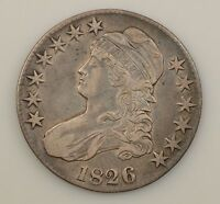 1826 CAPPED BUST HALF DOLLAR G80