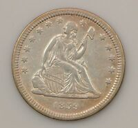 1859 LIBERTY SEATED QUARTER DOLLAR VARIETY 1 G88