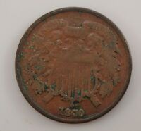 1870 TWO-CENT PIECE G19