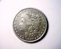 1880 VAM DIE BREAK WREATH BOW VAM MORGAN SILVER DOLLAR COIN 1880