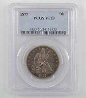 1877 LIBERTY SEATED HALF DOLLAR  PCGS VF20 A05