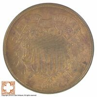 1865 TWO CENT PIECE XB77