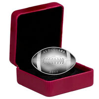 2017 CANADA $25 1 OZ PROOF SILVER FOOTBALL SHAPED COIN  MINT PACKAGING  SKU43974
