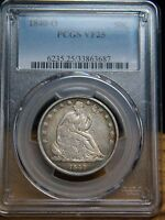 1840 O SEATED LIBERTY HALF DOLLARPCGS GRADED TO VF25AFO