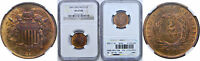1864 TWO CENT PIECE NGC MINT STATE 65 RB LARGE MOTTO