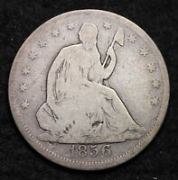 1856 SEATED LIBERTY HALF DOLLAR CHOICE G  E517 EB