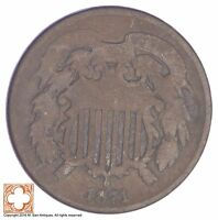 1871 TWO CENT PIECE YB24