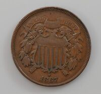 1867 TWO-CENT PIECE Q99