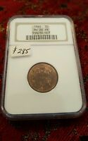NGC MINT STATE 64 BN 1865 2C TWO CENT COIN DON'T MISS OUT BID NOW