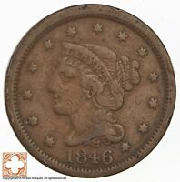 1846 BRAIDED HAIR LARGE CENT 3335