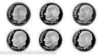 ROOSEVELT  SILVER DIME PROOFS   2000 2005 6 NICE CAMEOS PROOFS 12/14