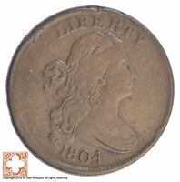 1804 HALF CENT DRAPED BUST SB91