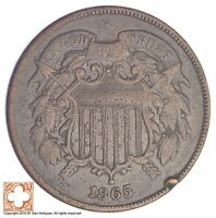 1865 TWO CENT PIECE YB14