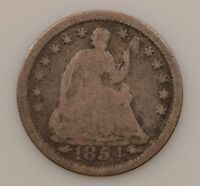 1854 LIBERTY SEATED HALF DIME ARROWS AT DATE G85