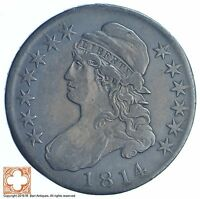 1814 CAPPED BUSTED HALF DOLLAR XB75