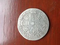 1676 KING CHARLES 11 SILVER HALF CROWN COLLECTABLE GRADE PRE 1920 SILVER COIN