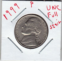 1999 P  JEFFERSON NICKEL IN BU CONDITION  FULL STAIRS