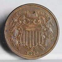1870 TWO CENT PIECE - EXTRA FINE  4573