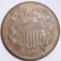 1870 TWO CENT PIECE CHOICE UNC SHIPS FREE E215 CHE