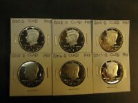 2012 S 2013 S 2014 S 2015 S  2016 S  2017 S  CLAD PROOF KENNEDY HALFS 6 COINS
