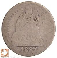 1887 SEATED LIBERTY SILVER DIME 7158