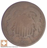 1869 TWO CENT PIECE YB13