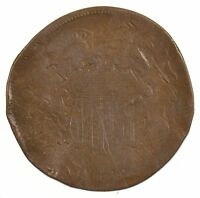 1869 TWO-CENT PIECE J77
