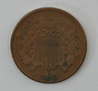 1870 TWO-CENT PIECE Q89